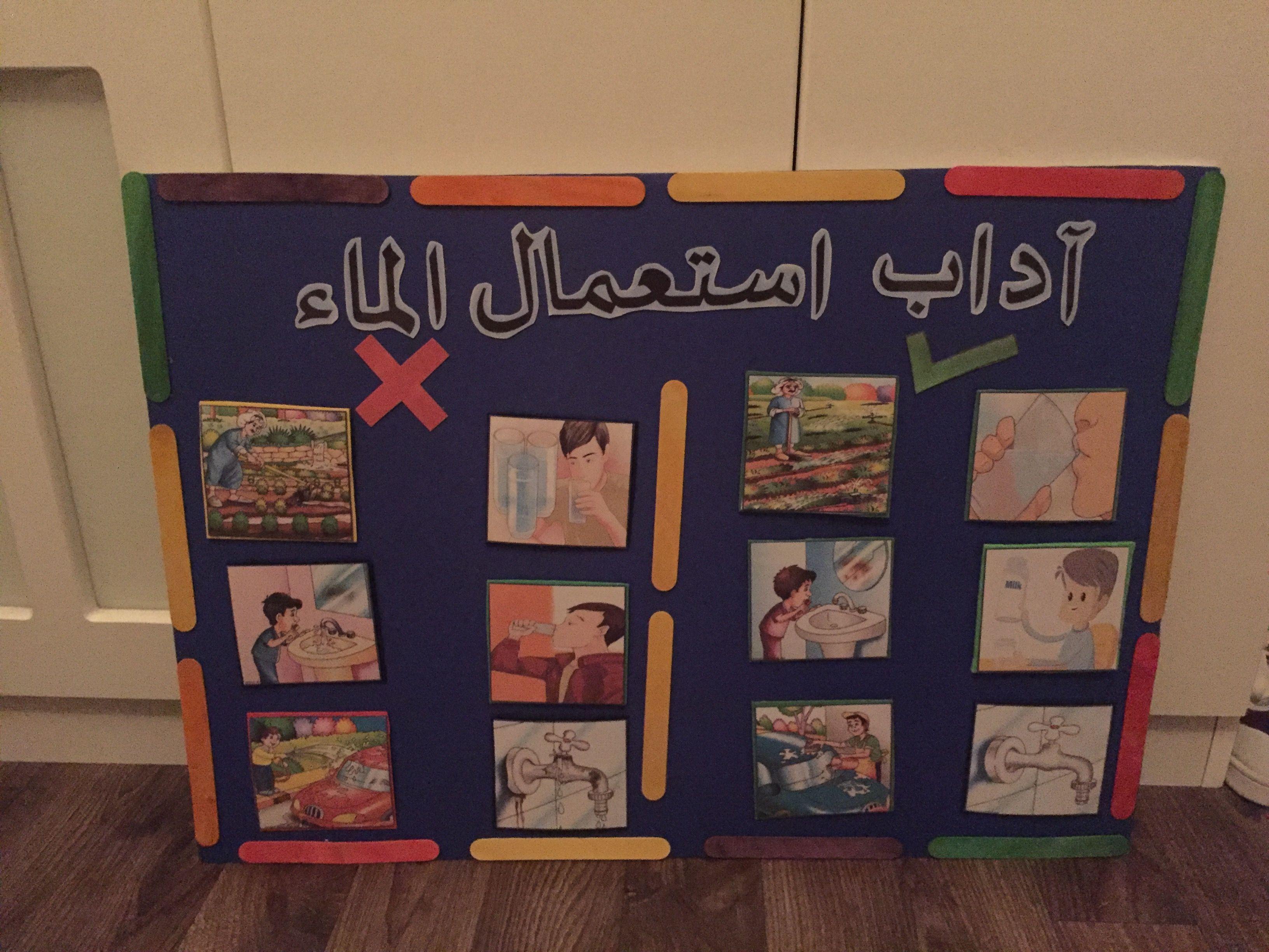 حلقة اداب استعمال الماء Science Activities For Kids Activities For Kids Kindergarten Teachers
