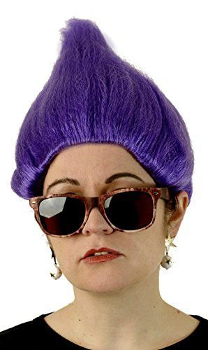 Deluxe Purple Troll Wig Fits Adults and Kids