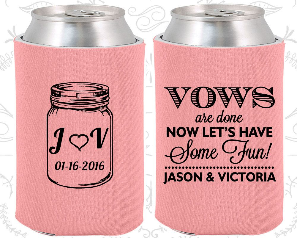 Personalized Wedding Favor Can Coolers, Wedding Favors, Custom ...