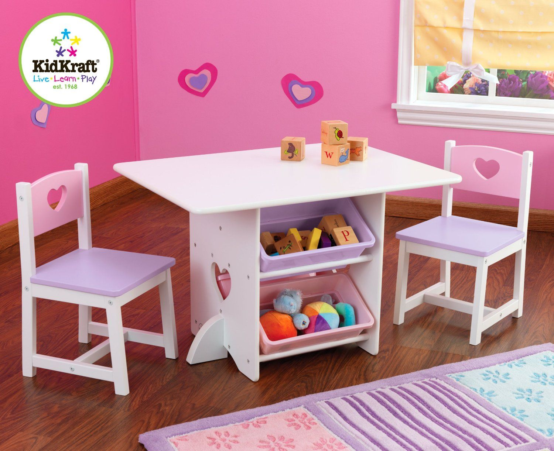 Kidkraft Heart Table And Chair Set For Little Girls Room