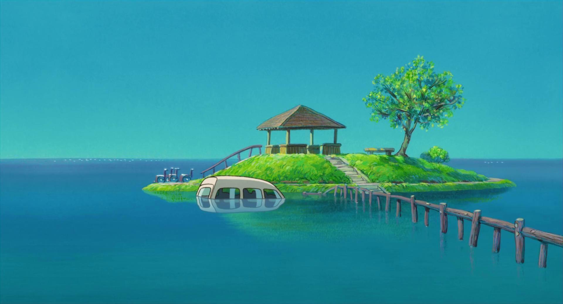 Miyazaki imgur paysages ghibli pinterest miyazaki for Paysage wallpaper