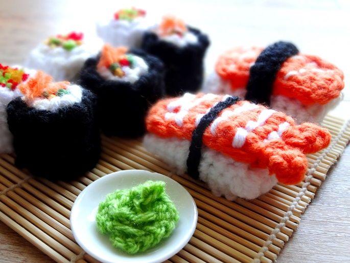 Anleitung Amigurumi Sushi Häkeln Play Kitchen Pinterest