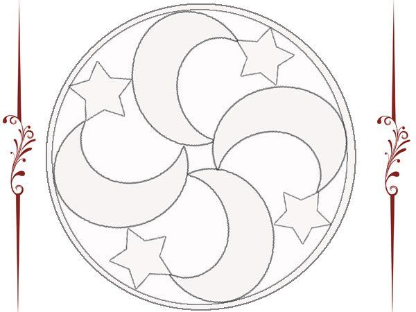Mandala de lunas y estrellas dibujos Pinterest Estrella