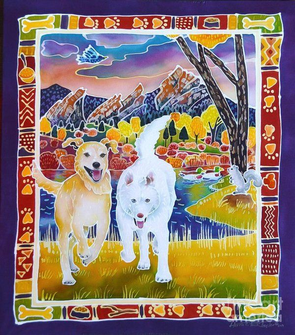 Enlightened Beings Art Print by Harriet Peck Taylor Keçe
