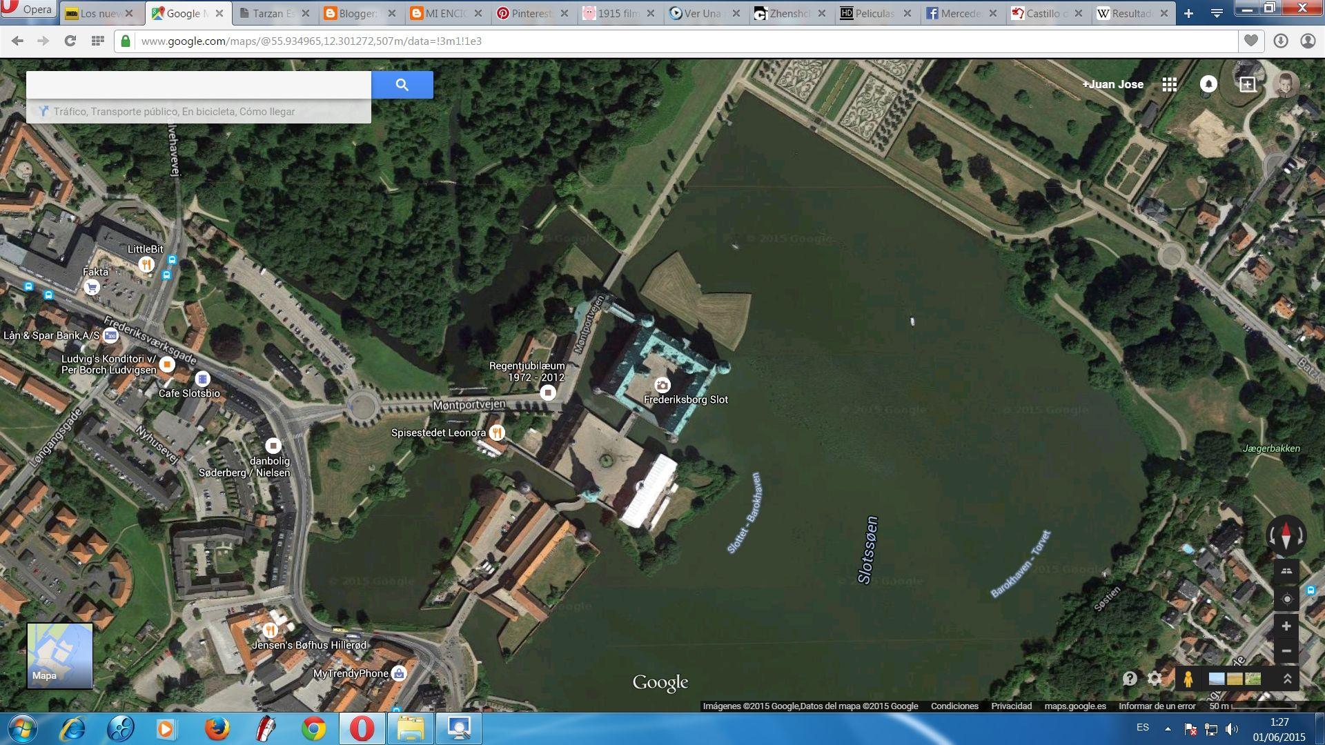 GOOGLE MAP Frederiksborg Castle Hillerod Denmark Castillos en