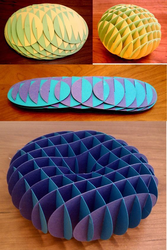 Sliceform 3D Algebraic equations that are sliced into sections and made out of paper.