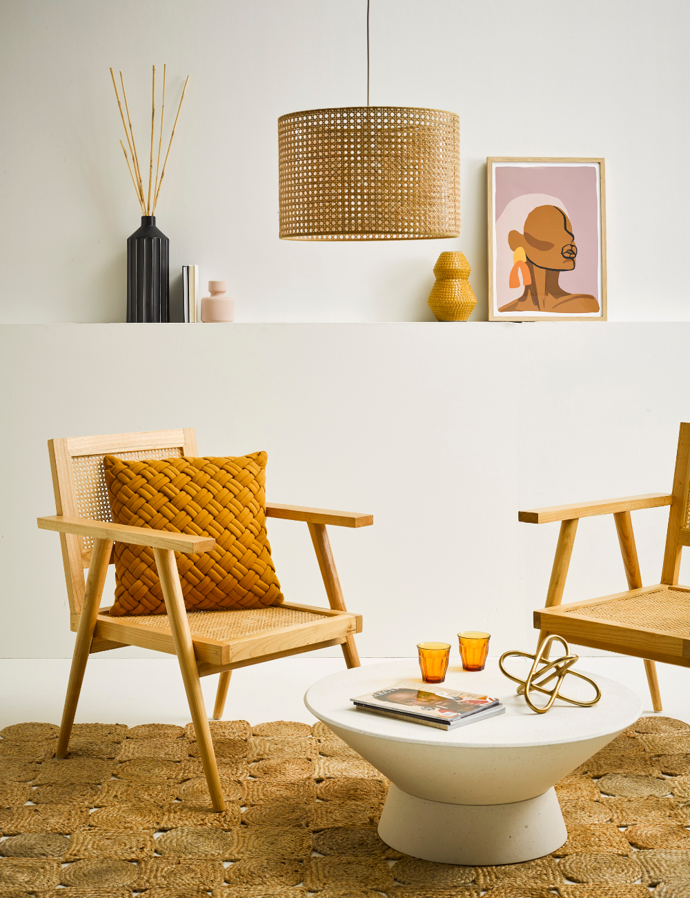 2 ways to give cane and rattan furniture a modern look in