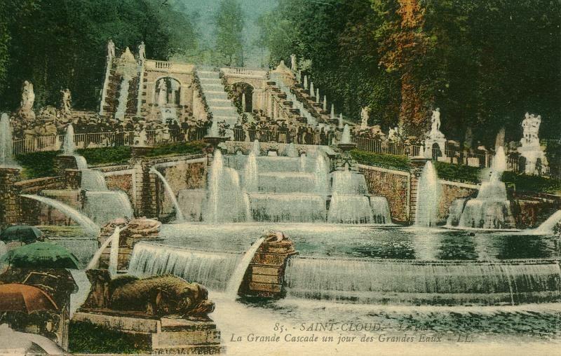 La Grande Cascade - Jour de Grandes Eaux   Château, Second empire, Saint  cloud