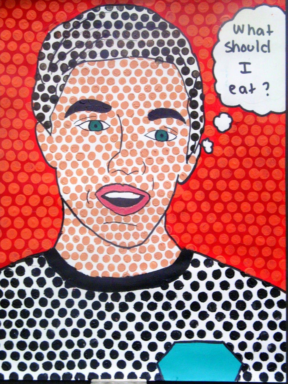 Pop Art Self Portraits Roy Lichtenstein Inspired Avec
