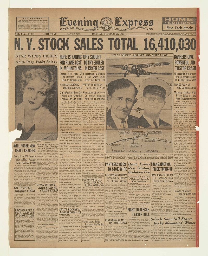 Great Depression Germany Quotes: Oct. 29, 1929: Stock Prices Collapsed On The New York