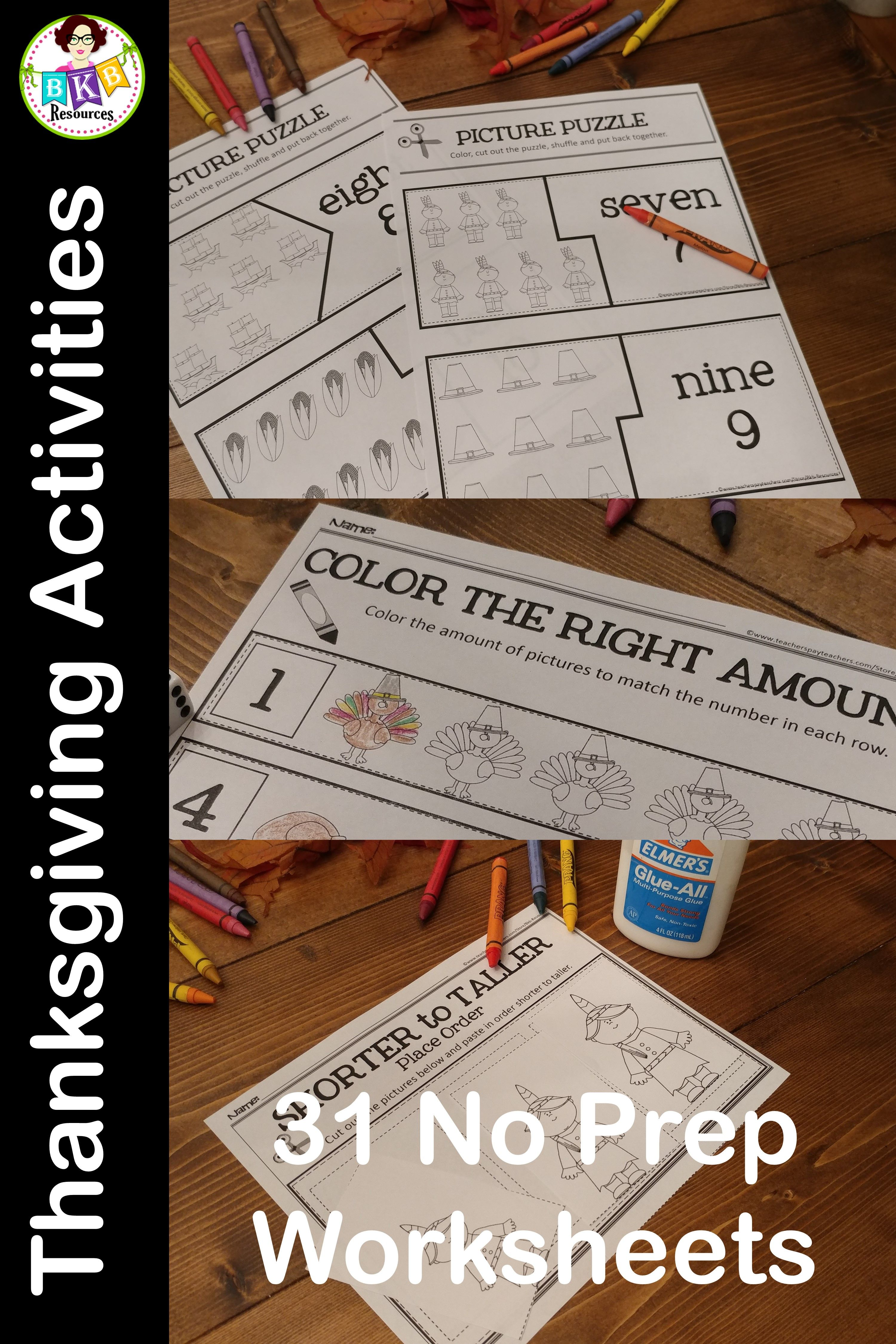 Thanksgiving Printables Thanksgiving Puzzles Math Centers