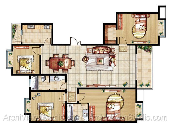Designer home plans floor plans
