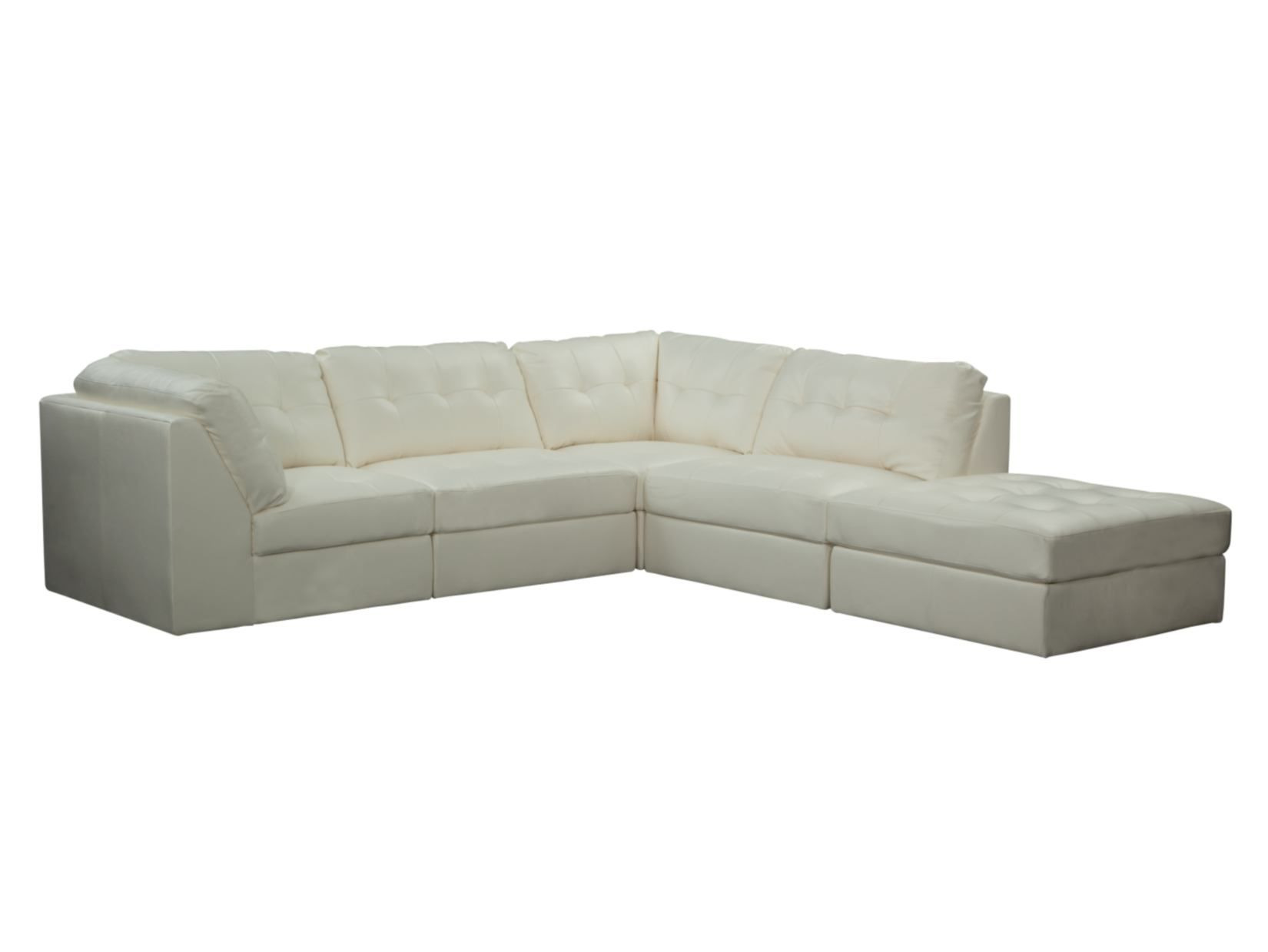 Aventura White 5 PC Sectional Value City Furniture