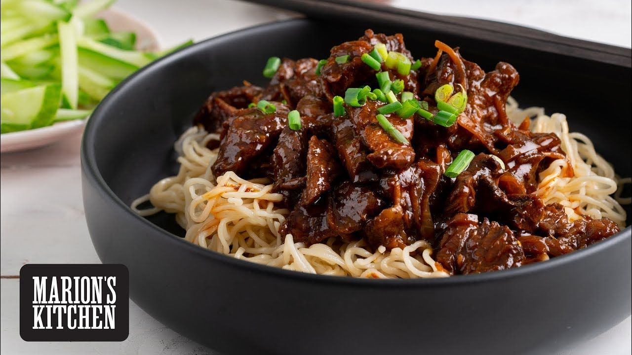 Chinese Sticky Beef Noodles Marion S Kitchen Youtube