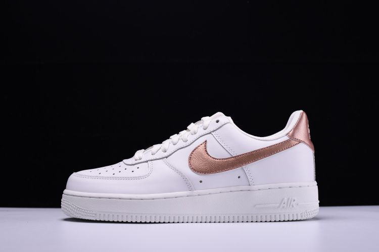 Nike Air Force 1 Low '07 - White / Metallic Rose Gold ...