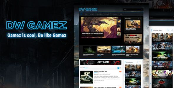 DW Gamez  Responsive WordPress Gaming Theme - Download theme here : http://themeforest.net/item/dw-gamez-responsive-wordpress-gaming-theme/15798057?ref=pxcr