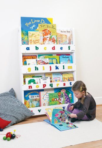 The Original Wooden Front Facing Kids Bookcase And Book Display With Alphabet