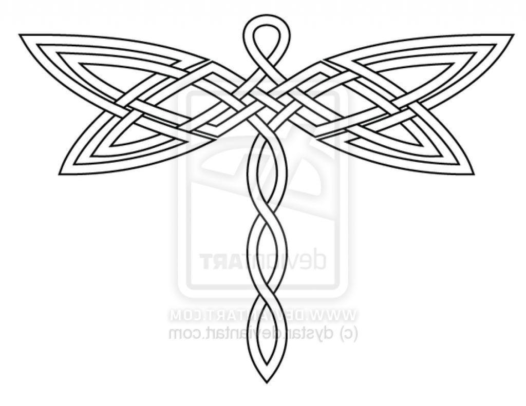 Celtic Dragonfly Tattoos | logos | Pinterest | Libélulas ...