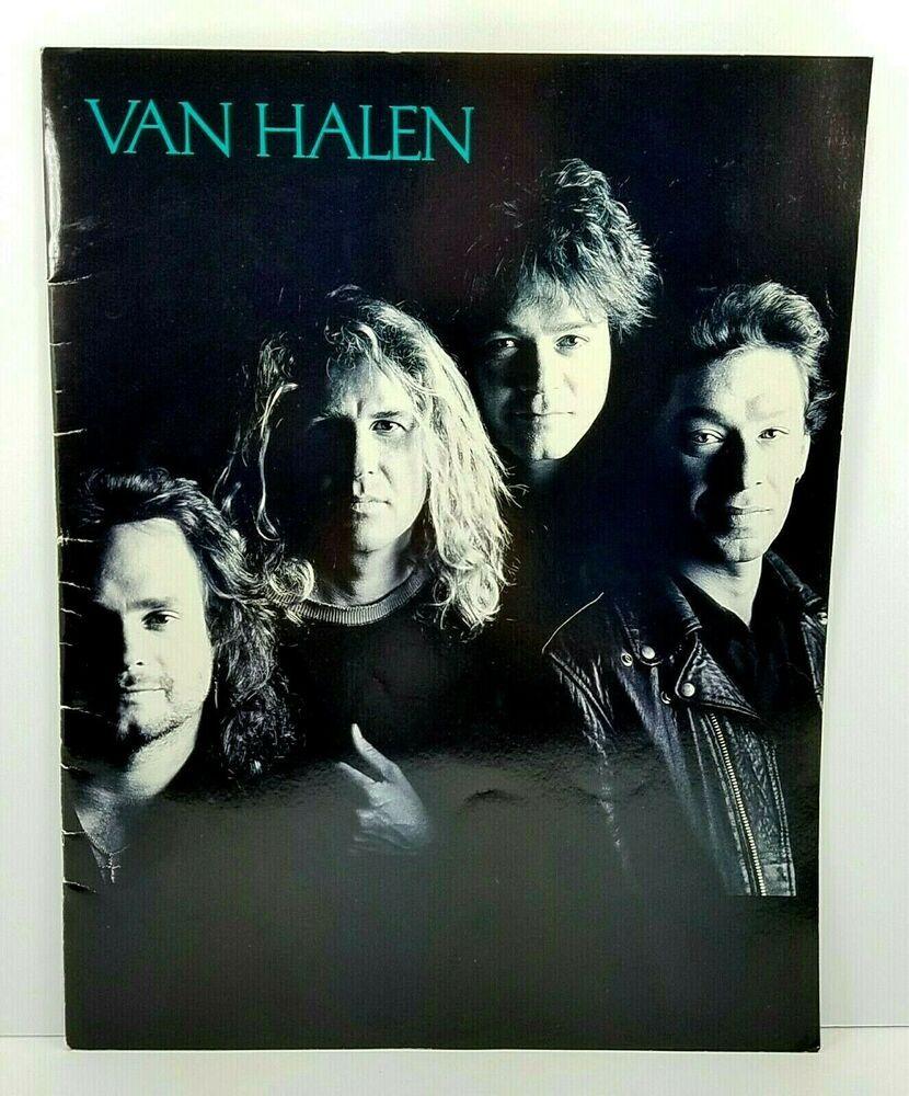 Van Halen Ou812 Concert Tour Program Live Eddie Alex Michael Sammy Hagar 1988 89 In 2020 Van Halen Alex Michael Sammy Hagar