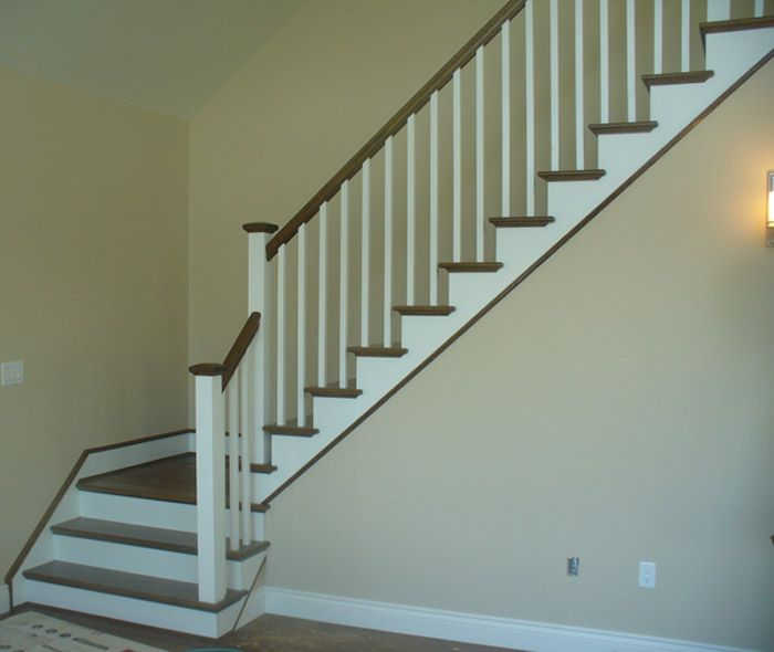 Stair Designs Railings Jam Stairs Amp Railing Designs: White Square Balusters & White Square Post With Stained