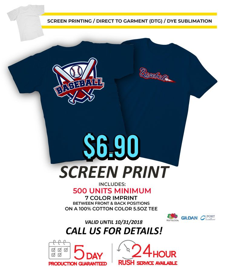 df3d2bfbbc85 Screen Printing Services from Tee for 2 | Promotional Product Flyers ...