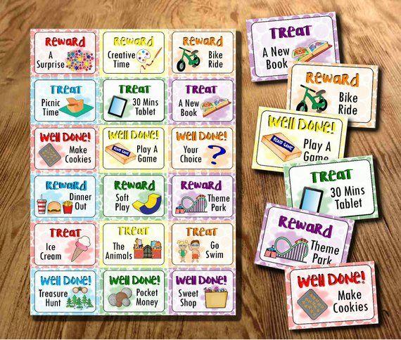Reward Tokens, Printable, Instant Download, Kids Rewards