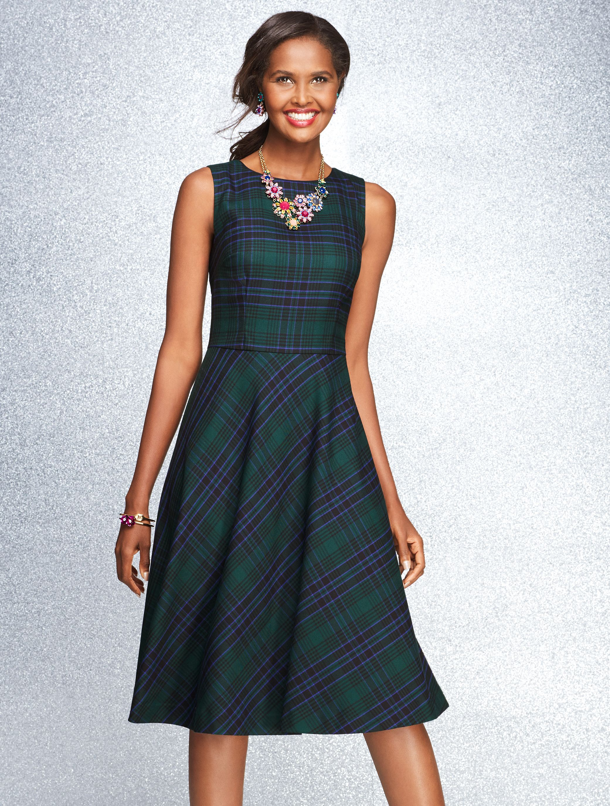 Our Tartan Plaid Fit & Flair Dress is crafted from a preppy staple ...