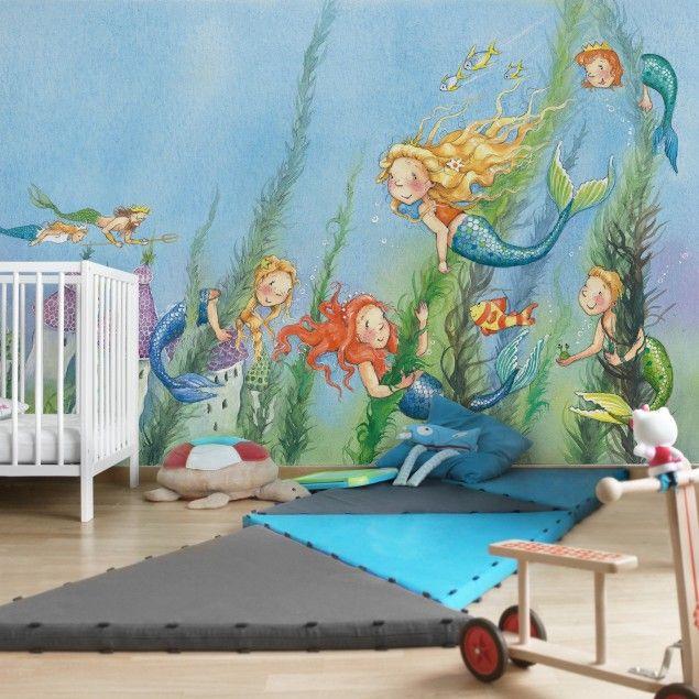 Matilda die kleine Meerjungfrau Kinderzimmer Tapete