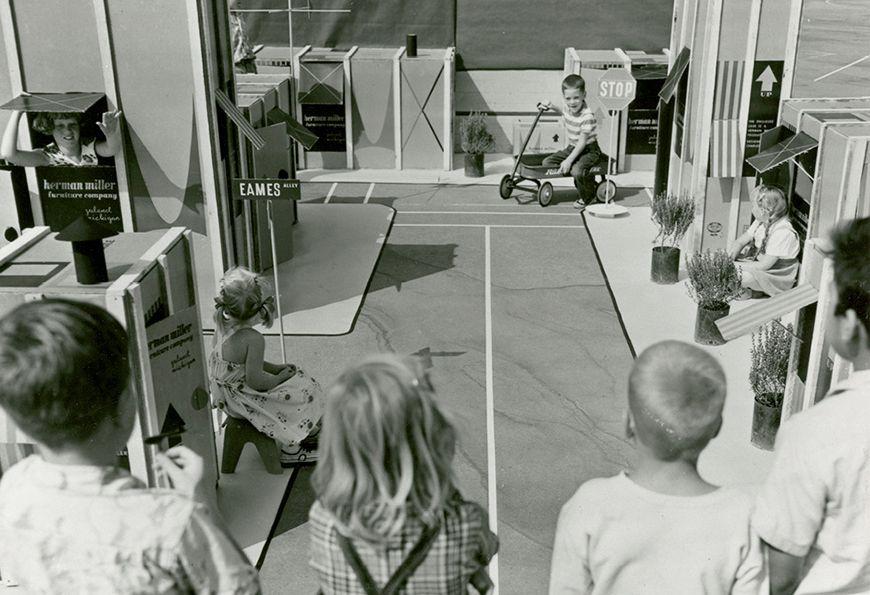 Children exploring Carton City USA. © Eames Office, LLC