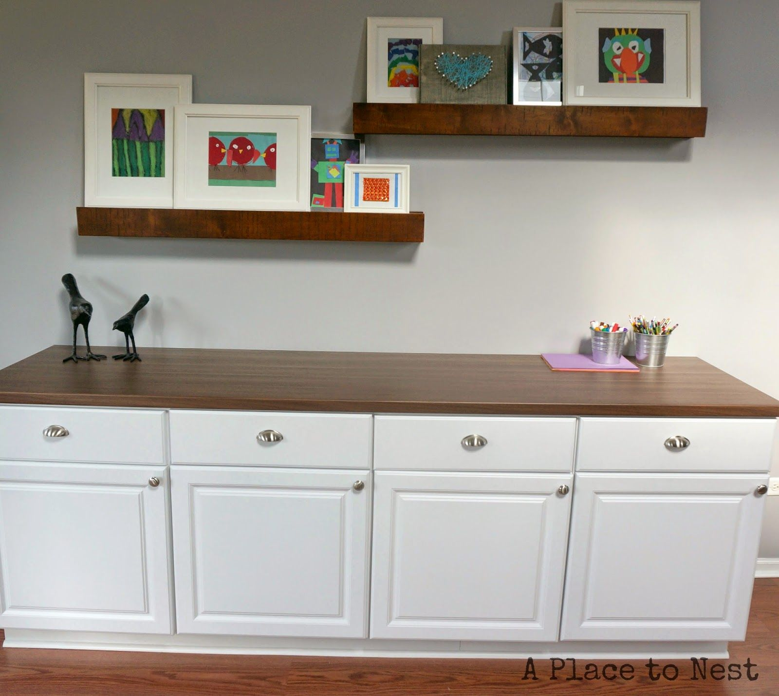 Full size ikea counter top and Home Depot base cabinets makes \