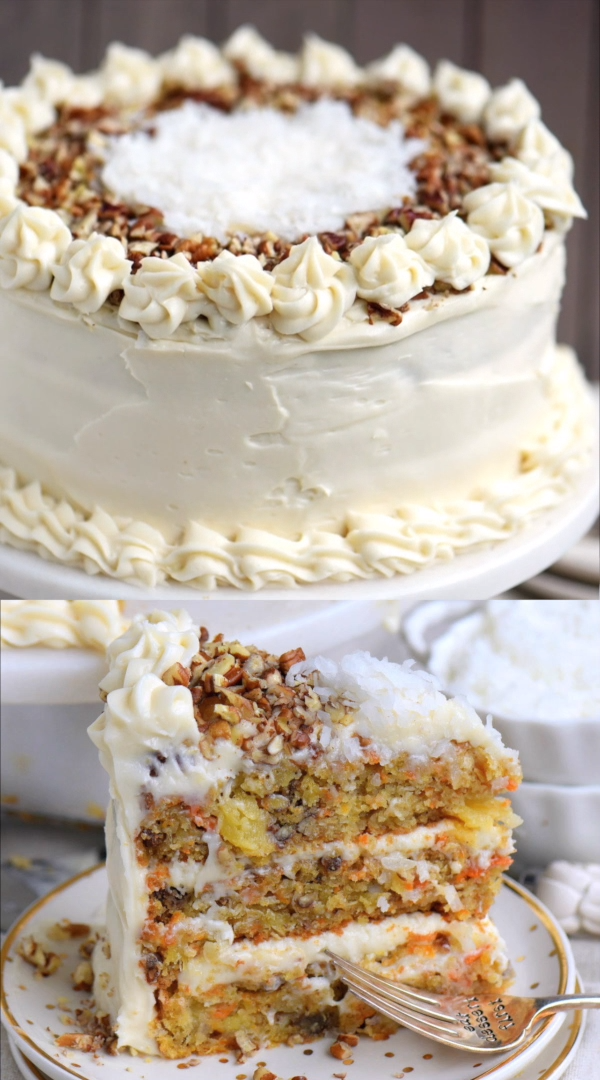 To Die For Carrot Cake #cakesanddeserts