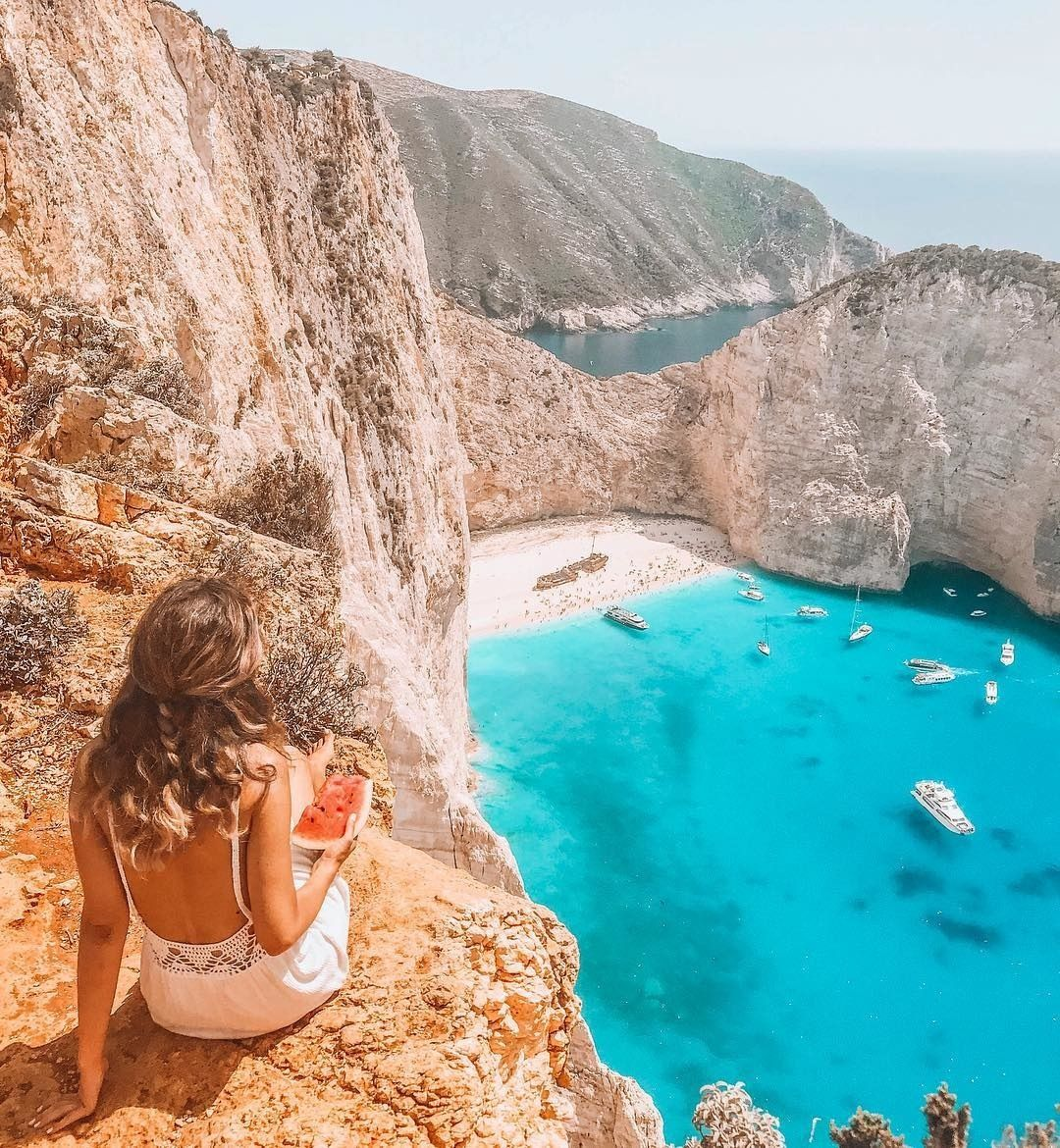 The Discoverer On Instagram Now Discovering The Navagio Beach In Greece With Callia M Navagio Beach Or Shipwreck Beach Is An E Instagram Nice View Beach