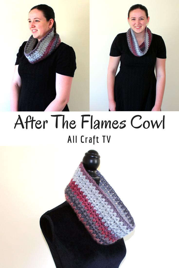 After The Flames Cowl Crochet - All Craft TV | Crochet Scarfs ...