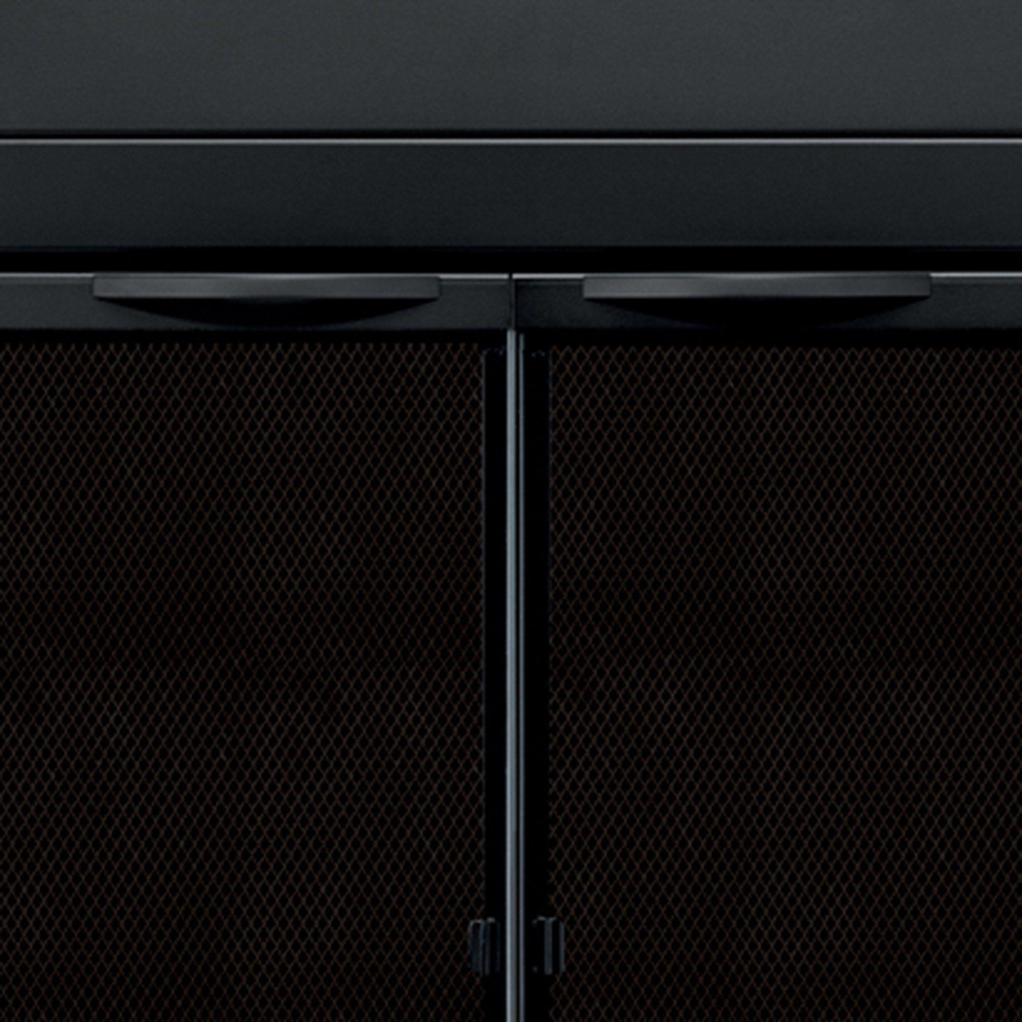 Pleasant Hearth An1012 Alpine Fireplace Glass Door Black Large **