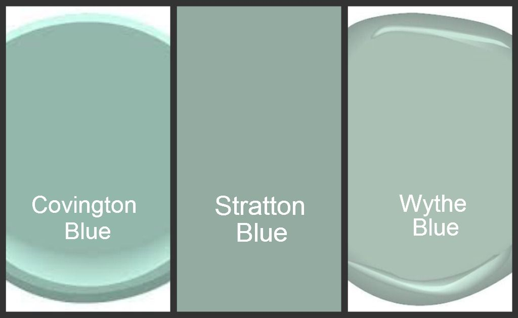 Wythe Blue   Still, By Far, My Favorite Color. Thank You Cathy And Alyson!  Blue Green Paint Colors [Benjamin Moore].