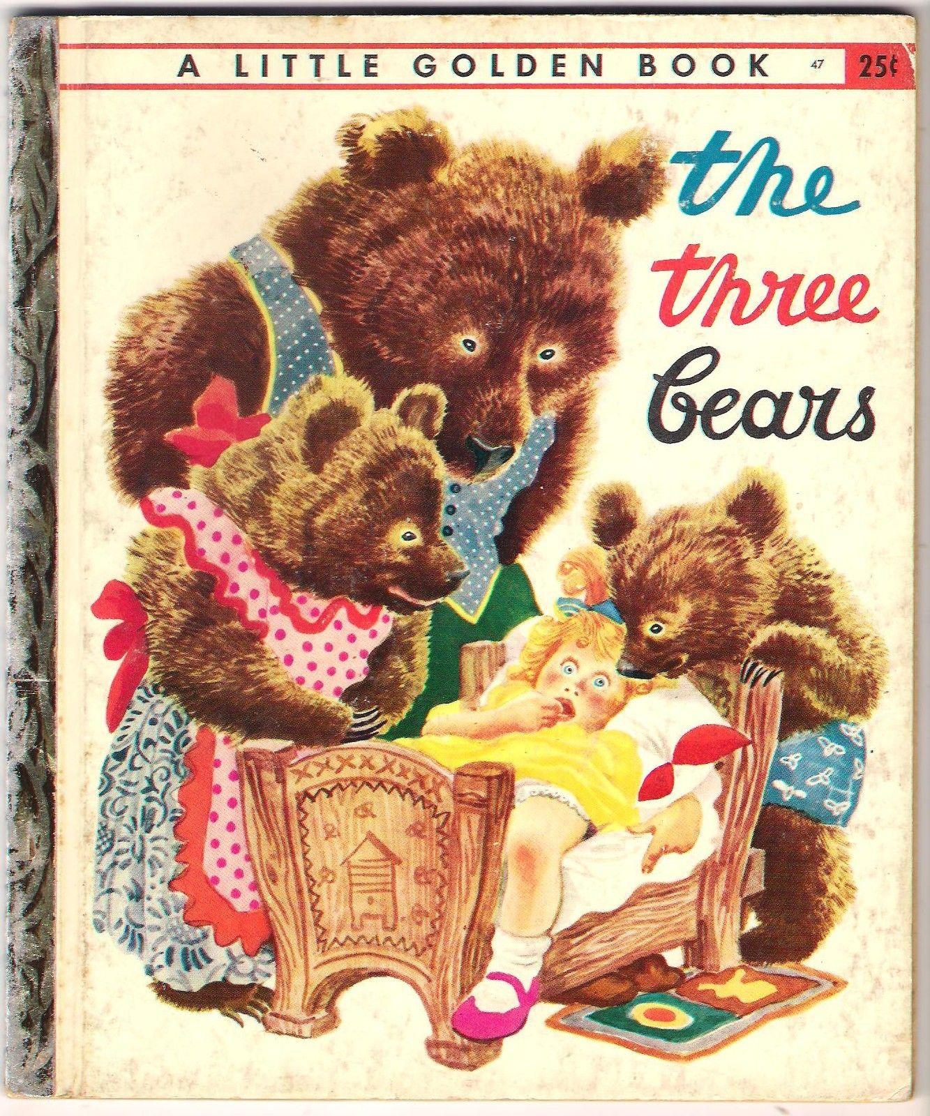 Details About The Three Bears A Little Golden Book