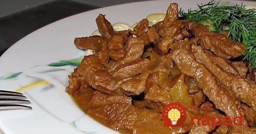 Toto jedlo je u nás doma veľmi obľúbené. Hoci je najvhodnejšie na jeho prípravu hovädzie mäso, môžete ho nahradiť aj bravčovým či dokonca kuracím mäsom.