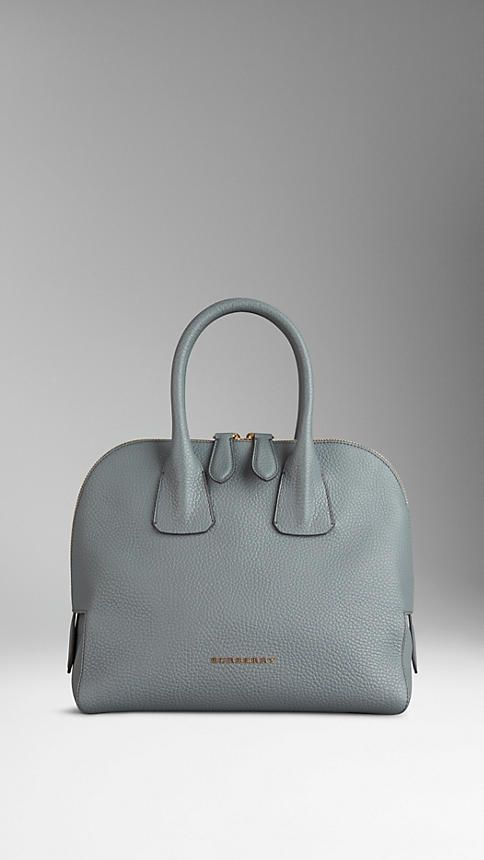 2f33e5707233 Small Grainy Leather Bowling Bag from Burberry