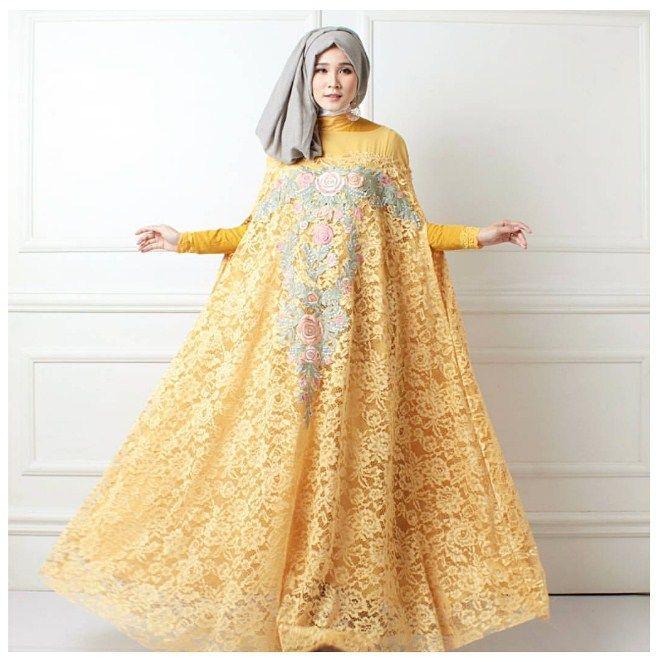 Contoh Gaun Pesta Brokat Baju Hijab Fashion Fashion Kebaya Hijab