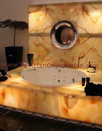 Bathtub, Lighted Onyx