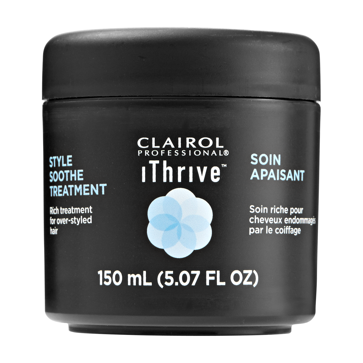 Clairol Professional iThrive Style Soothe Treatment, part of the iThrive Style Soothe System, is specifically formulated with StylEASE to soothe over-styled, unmanageable hair.
