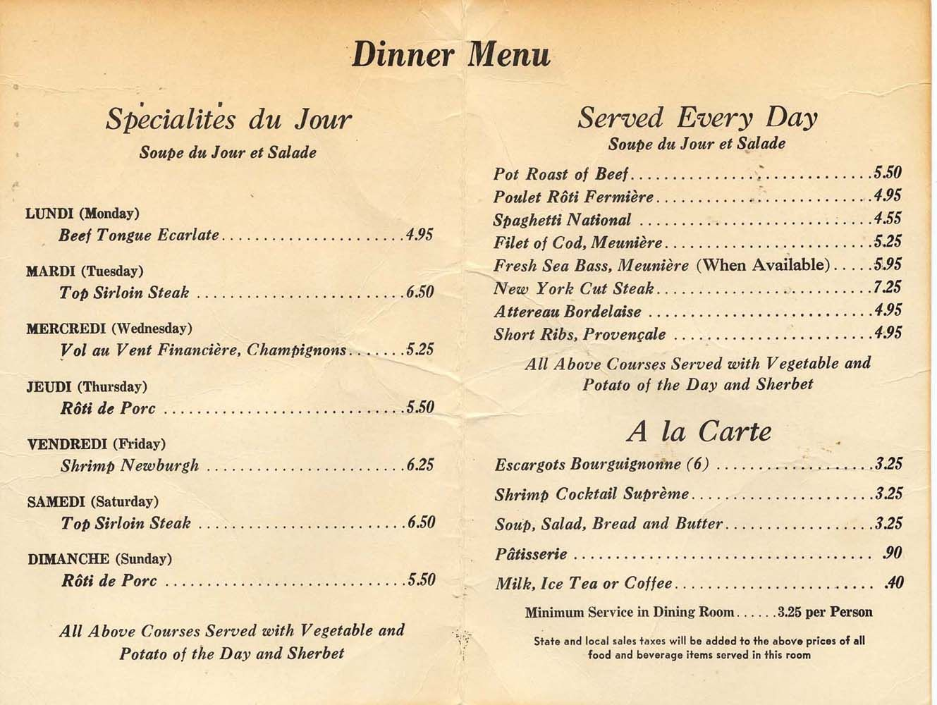 German Restaurant Beverly Hills Menu