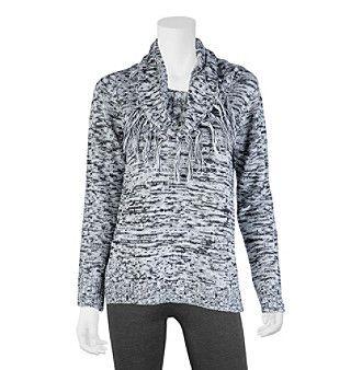 A. Byer Fringe Trim Pullover Sweater