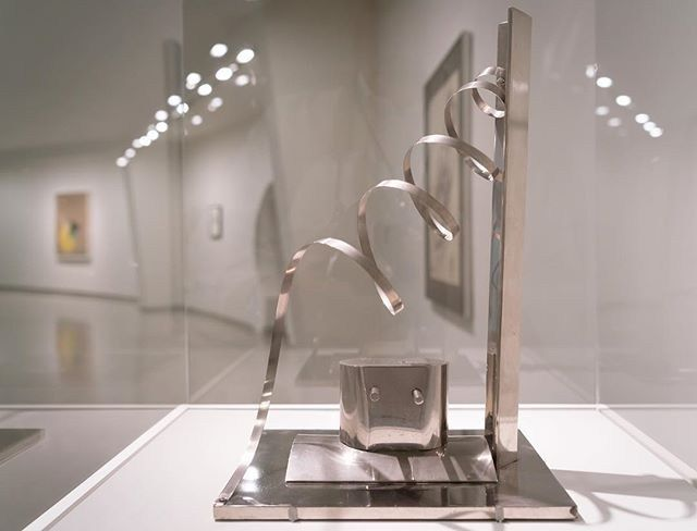 """#MoholyNagy's """"Nickel Sculpture with Spiral"""" created in 1921 is a metal…"""