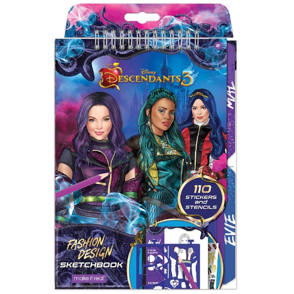 Disney S Descendants 3 Fashion Design Sketchbook By Make It Real Fashion Design Sketchbook Fashion Design Coloring Book Sketch Book