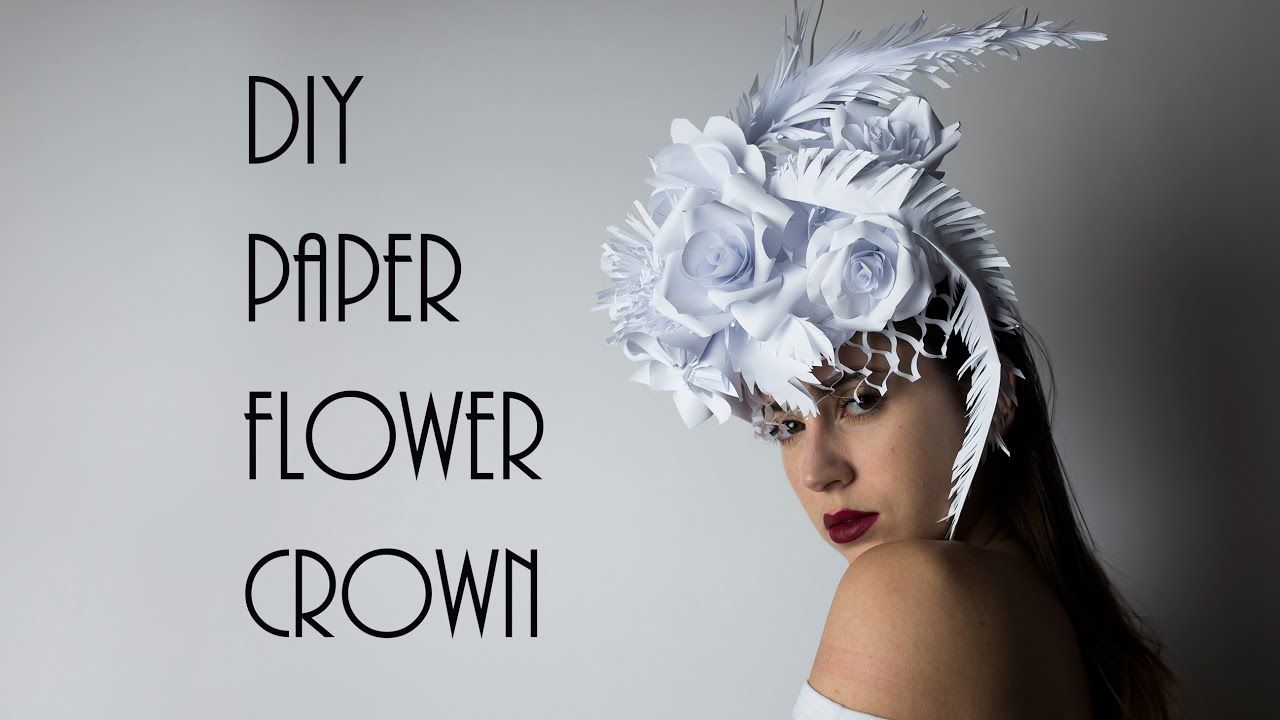 How To Make A Paper Flower Crown - YouTube | 720x1280
