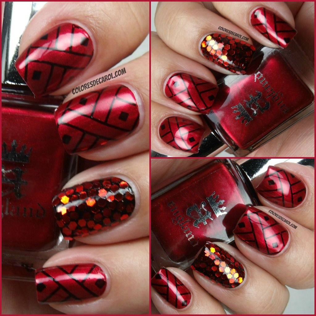Piggieluv Freehand Stairway To Heaven Nail Art: I'm At The Let Them Have Polish Blog Today!