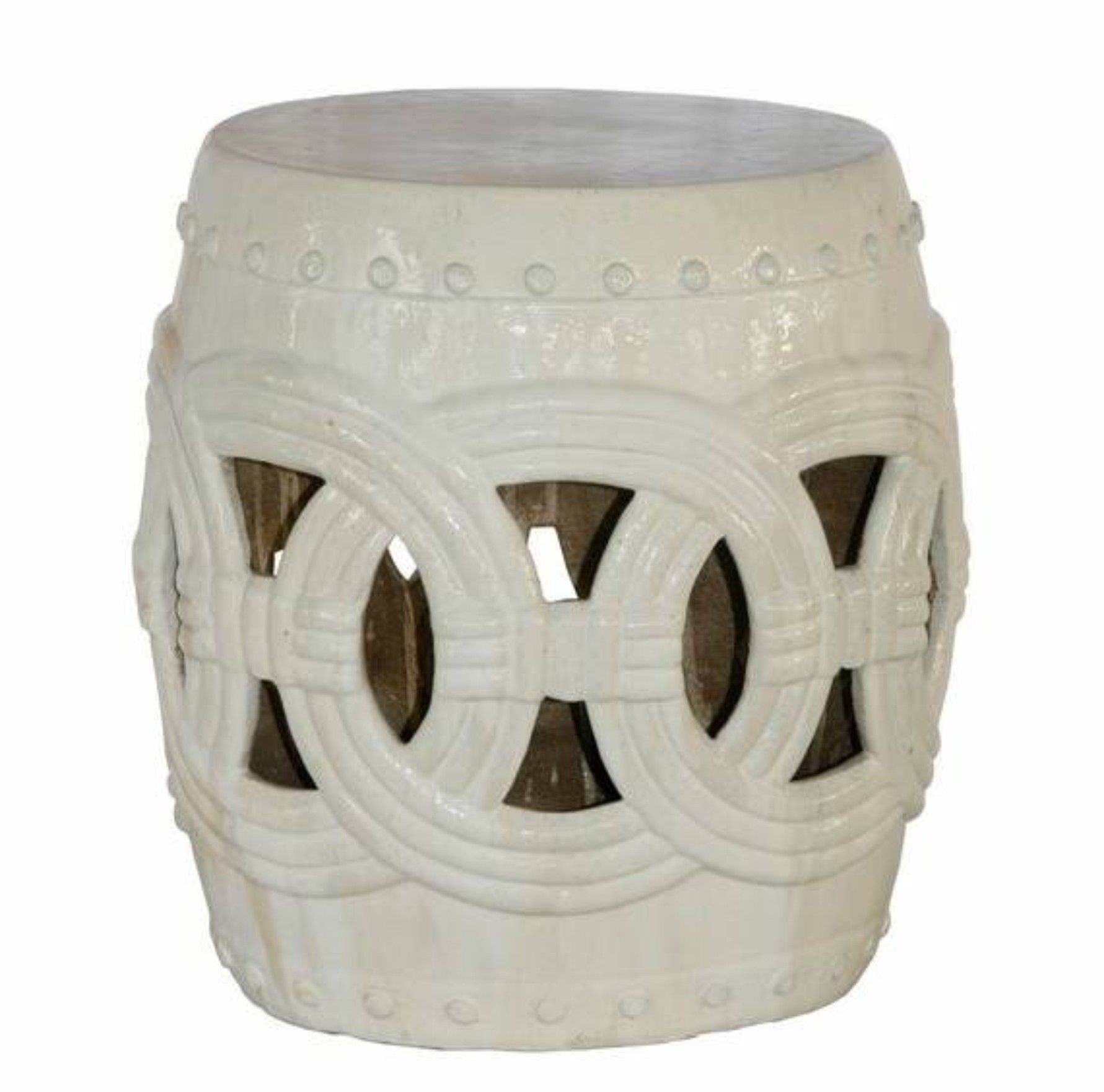 Rope Ceramic Garden Stool