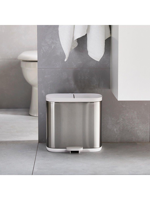 Joseph Joseph Split Recycler Bin Steel In 2020 Joseph Joseph Recycler Bathroom Bin
