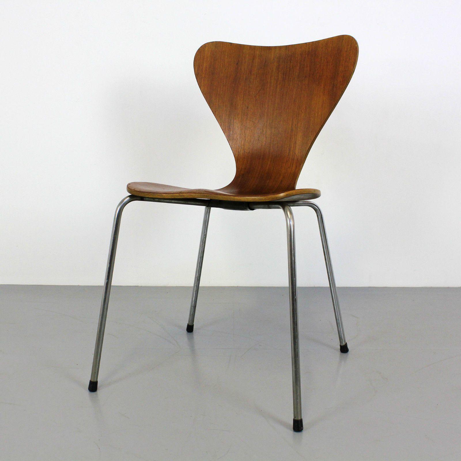 Danish Modern Plywood Chair by Arne Jacobsen Jofa M¸bler 60s